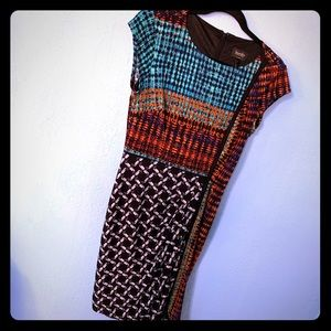 Laundry by Shelli Segal Multi Color Dress